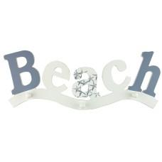 """""""BEACH"""" Coathook (3), 46x18cm"""