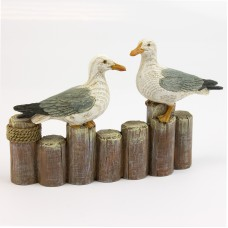 Pair of Seagulls on Groynes, 10cm