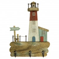 """""""BEACH"""" Hooks (3) with Lighthouse, 21x29cm"""