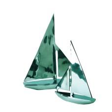 Aluminium Yacht, L20cm x H25cm