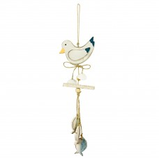 Hanging Seagull & Fish (3), 34cm