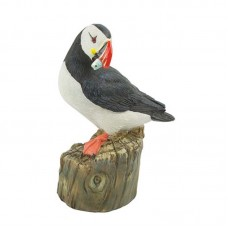 Puffin on Groyne (fish/head turned), 10cm