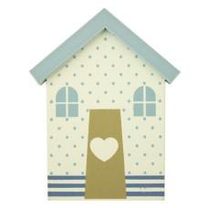 Beach Hut Magnet, dots, 7cm