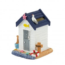 Beach Hut Money Box, white, 9cm