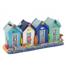Row of Beach Huts Money Box, 22cm
