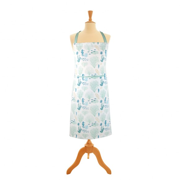 Coral Apron with Pocket, 89x70cm