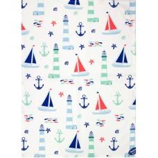 Nautical Tea Towel, 71x51cm
