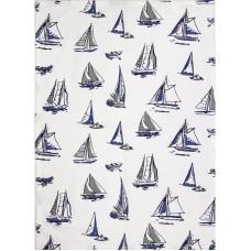 Boats Tea Towel, 71x51cm