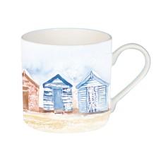Coastal Mug with Beach Huts, 425ml