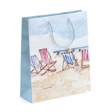 Coastal Gift Bag with Deck Chairs, 26x33cm