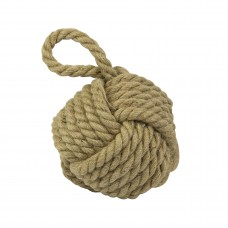 Jute Monkey Fist Knot Doorstopper, 15cm