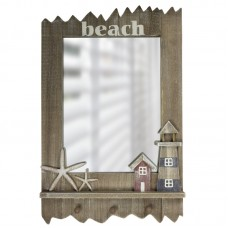 """Beach"" Mirror with Starfish/Lighthouse, 60cm"