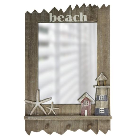 """Beach"" Mirror with Starfish/Lighthouse, 60cm"