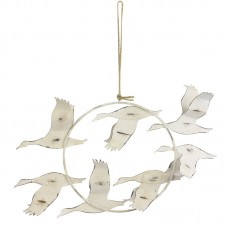 Hanging Metal Birds (7) in Flight, 30cm