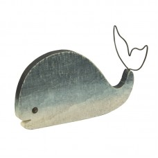 Wooden Whale with Wire Tail, 19cm