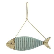 Wooden Decorative Hanging Fish, 28cm