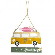 "Campervan ""Happy Summer"" Sign, 14x12cm"