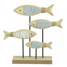 Shoal of Fish on Stand, 18cm