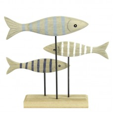 Shoal of Fish on Stand, 17cm