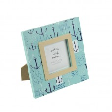 Photo Frame with Anchors, blue, 15cm
