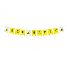 "Wooden ""Bee Happy"" Bunting, 140cm"