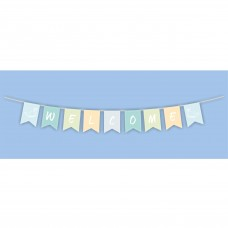 "Wooden ""Welcome"" Bunting, 120cm"