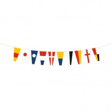Wooden Code Flag Numbers Bunting, 130cm