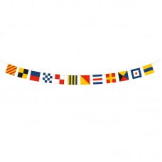 Wooden Code Flag Bunting, 160cm