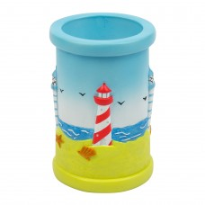Pen Pot with Lighthouses, 10cm