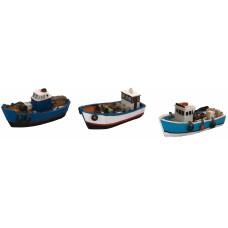 Mini Trawlers, 12cm, 3 assorted