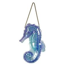 Seahorse Glass Wall Décor, 43x28cm