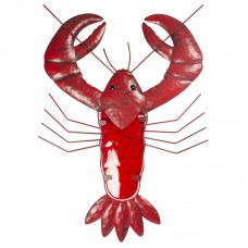 Lobster Metal Wall Décor, red, 48cm