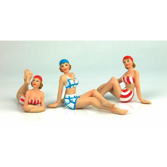 Beach Ladies, 10cm, 3 assorted
