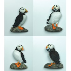 Puffin Magnet, 7cm, 4 assorted