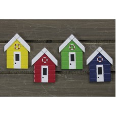 Beach Hut/Life Ring Magnet, 7cm, 4 assorted