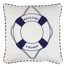 Cushion - life ring/welcome aboard, 30cm