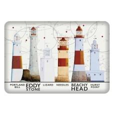 South West Coast Lighthouses Fridge Magnet, 8cm