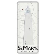 St. Mary's Lighthouse Fridge Magnet, 12cm