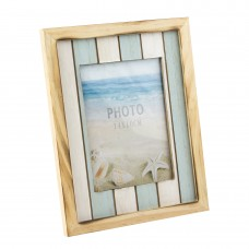 Striped Wooden Photo Frame, 20cm