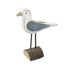 Wooden Seagull on Stand, 13cm