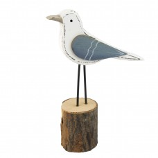 Wooden Seagull on Stand, 20cm