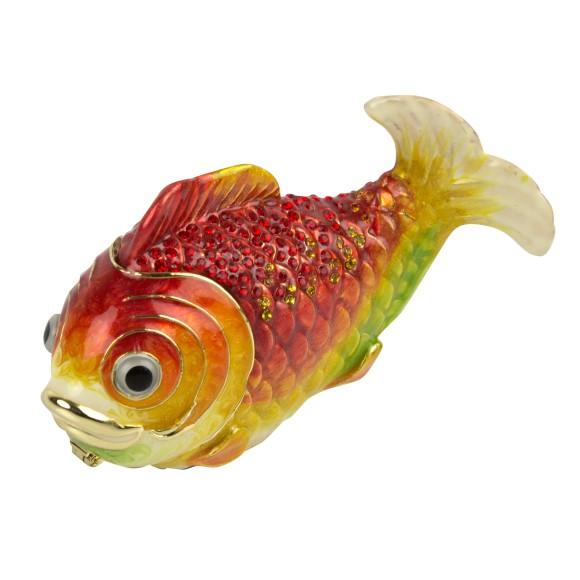 Gold Fish Trinket Box, 10cm