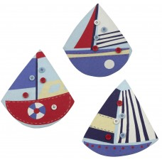 Boat Memo Board, 20cm, 3 assorted