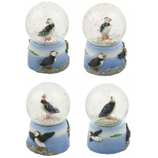 Puffin Snowglobes, 6cm, 4 assorted