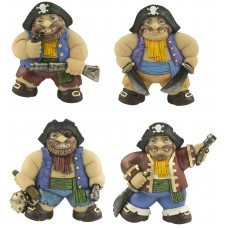 Pirate Magnets, 7cm, 4 assorted