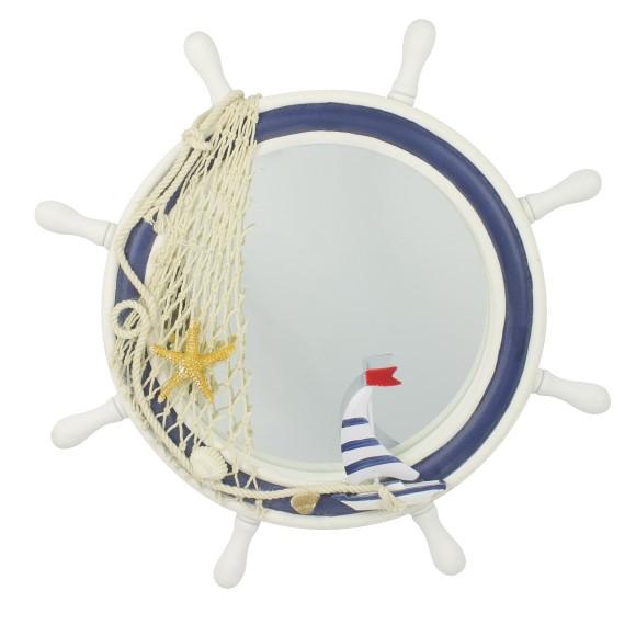 Ship's Wheel Mirror, 34cm