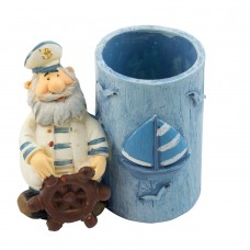 Bearded Sailor Pen Pot, 7cm