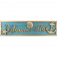 Vitamin Sea Wooden Sign