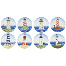 Lighthouse Magnets, 6cm, 8 assorted