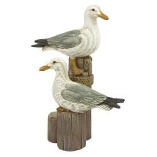 Pair of Seagulls on Post, 18cm